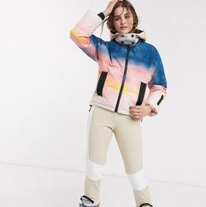 Topshop Sno Tie Dye Multi Color Jacket